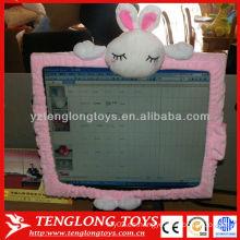 El ordenador portátil del diseño de la manera adorna la cubierta encantadora de la pantalla de computadora del conejo