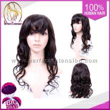 Tienda de China Pelucas rizadas baratas del cabello humano en línea para la peluca baja de silicona de los hombres