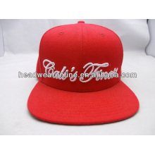 2015 raised embroidery custom flat brim snapback cap