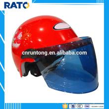 Motocicleta roja del casco de la cara del verano caliente de la mitad