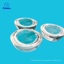 Lentes de hemisfério de vidro óptico bk7 k9 1 mm 2 mm 3 mm 4 mm 5 mm