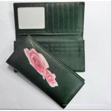 Carteira da senhora seda carteira bolsa