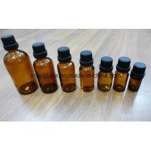 Bouteilles de verre à l'huile essentielle certifié ISO avec capuchon