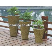 Pots de fleurs en velours de style nouveau