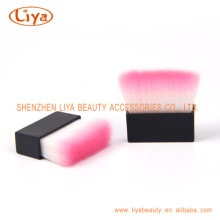Square Handle Compact Brush Made of Nylon Hair