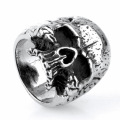 925 sterling silver skull head ring jewelry