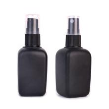 fancy essential oil glass bottle 50ml square matte black color with dropper lid