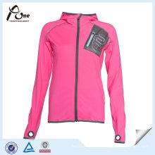 100 chaqueta de deportes de la manera de la capa corriente del poliéster para las mujeres