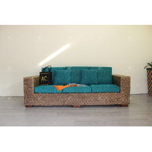 Elegant Indoor Natural Water Hyacinth Sofa Set for Interior Furniture Handmade Weaving
