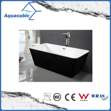 Black Surround Square Free-Standing Acrylic Bathtub (AB1506B)