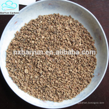 Different size granular walnut shell filter media for waste water treatment