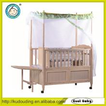 Aprovado bebê cama de madeira