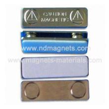 Insignias magnéticas con cubierta metálica