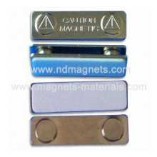 Магнитные значки с металлической крышкой