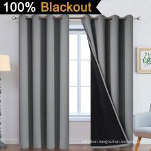 Grey 100% Blackout Curtains