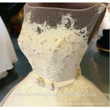 Vestidos de noiva robe de boda que rebordea el vestido de boda por encargo del vestido de bola del cordón del vestido nupcial CWF2324