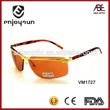 sexy orange color rimeless metal sunglasses with UV400