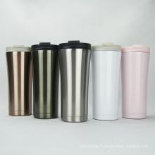 Tasse à café à double paroi isolée à vide