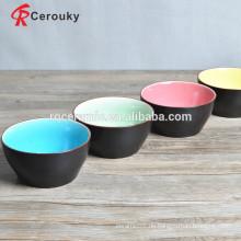 Lebensmittel und Getränke Sicherheit Keramik Schüsseln benutzerdefinierte gedruckte Keramik Schüssel