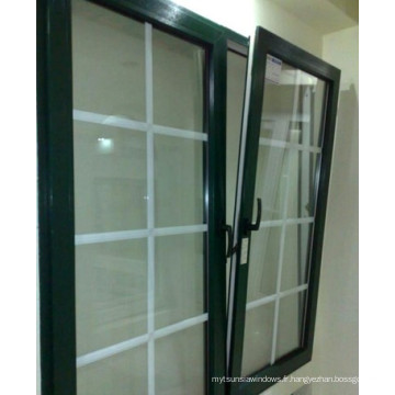 De Bonne Qualité Aluminium inclinable et tourne la fenêtre avec le verre de Doule