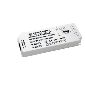 power supply 12v 5a  ac dc switching power adapter for led lights with CE  FCC ROHS CB IECEE SAA