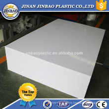 Jinbao plástico fábrica 3 mm 5 mm 8 mm color gris pvc bordo