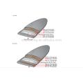 VENTA DE VENTAS 2017 tabla de surf de fibra de vidrio fuerte / más ligera / tabla de surf de fibra de vidrio corta personalizada