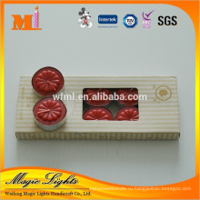 Box-упакованные Красный tealight свечи в алюминиевых Стаканчиках
