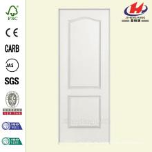 30 pulg. X 80 pulg. Solidoor Liso de 2 paneles Arco Superior de núcleo sólido Primed Composite Single Prehung Puerta interior