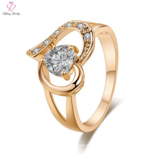 Anillo de oro de la joyería 24k de la boda del compromiso de la Arabia Saudita