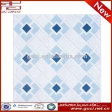 résistant résistant à la chaleur anti-dérapant bleu clair prix bas carreaux de sol en céramique