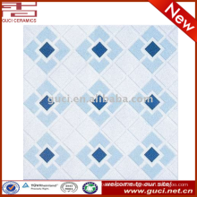 heavy duty heat resistant non slip light blue low price ceramic floor tiles