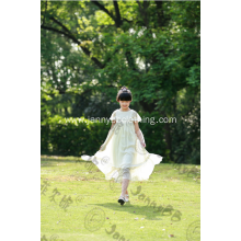 white beautiful baby kids maxi dress