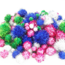 wholesale kids children party decorative Glitter fuzzy pom poms balls wholesale kids children party decorative