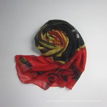 Nueva bufanda que viene de la gasa del poliester de las mujeres