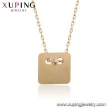 44936 Xuping Joyería al por mayor 18k oro plateado collares simples de las mujeres