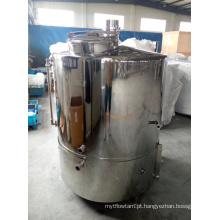 Tanque de fabricação de aço inoxidável com elemento de aquecimento direto