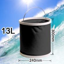 Cubo de pesca de plástico de 13 litros para acampar