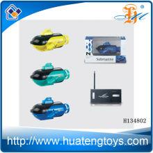 2014 El juguete submarino más nuevo del mini rc 4ch, barco submarino modelo del rc H134802