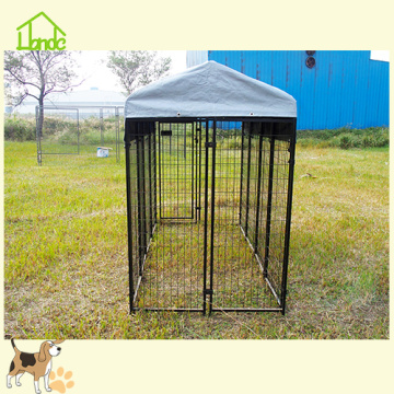 Large Dog Run Kennel con cubierta