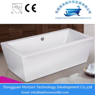 Square seamless bathtub acrylic tub