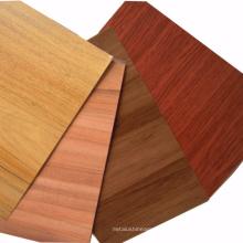 panel de pared interior del panel compuesto de aluminio de la textura de madera del tamaño personalizado