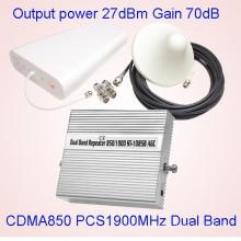 27dBm 850MHz + 1900MHz Repetidor de señal de doble banda / repetidor GSM St-1085b