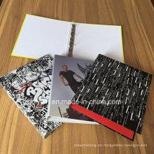 1,5 pulgadas de A4 de impresión personalizada 4 carpetas de carpetas de carpetas de anillas