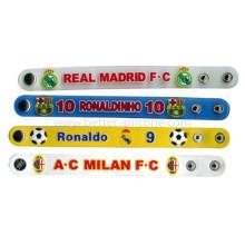 Bracelet en PVC imprimé Logo personnalisé avec bouton-pression
