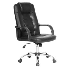 Black Leather Furniture Swivel Computer Office Chairs