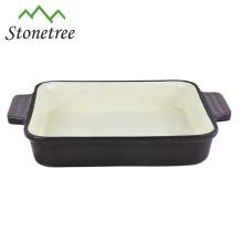 Plat rectangulaire de cuisson de rôtissoire de sauce de fonte en gros