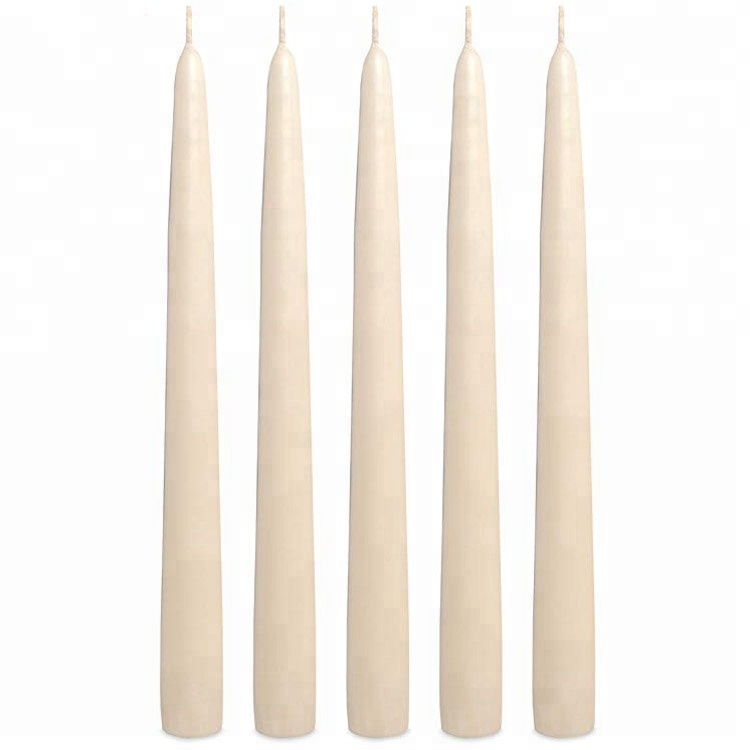 Color de marfil Higlow Dripless Taper Wedding Dinner Candle