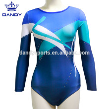 Girls Sleeveless Striped Sparkle Leotards