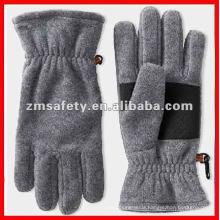 Black mens winter fleece glove